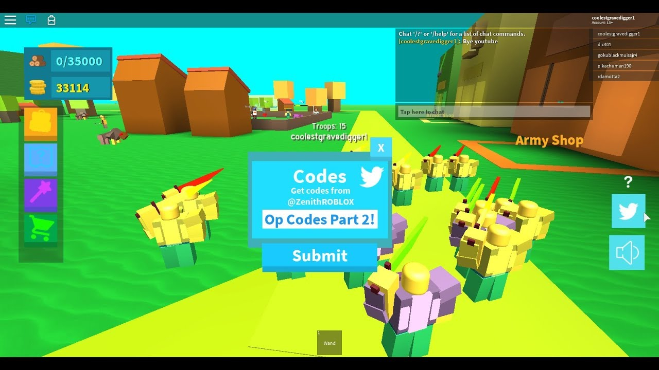 Codes For Army Control Simulator   #2 *2 Codes*