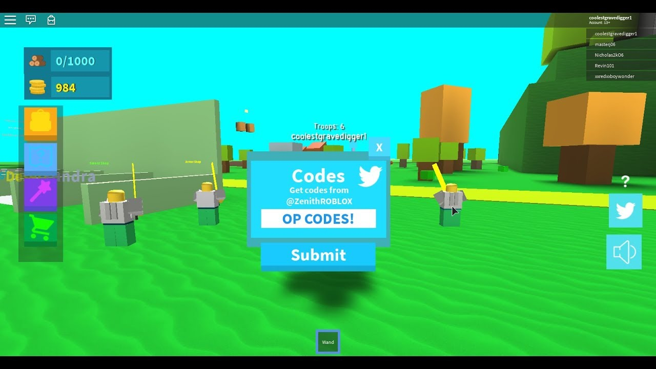 Codes For Army Control Simulator | Roblox *op Codes*