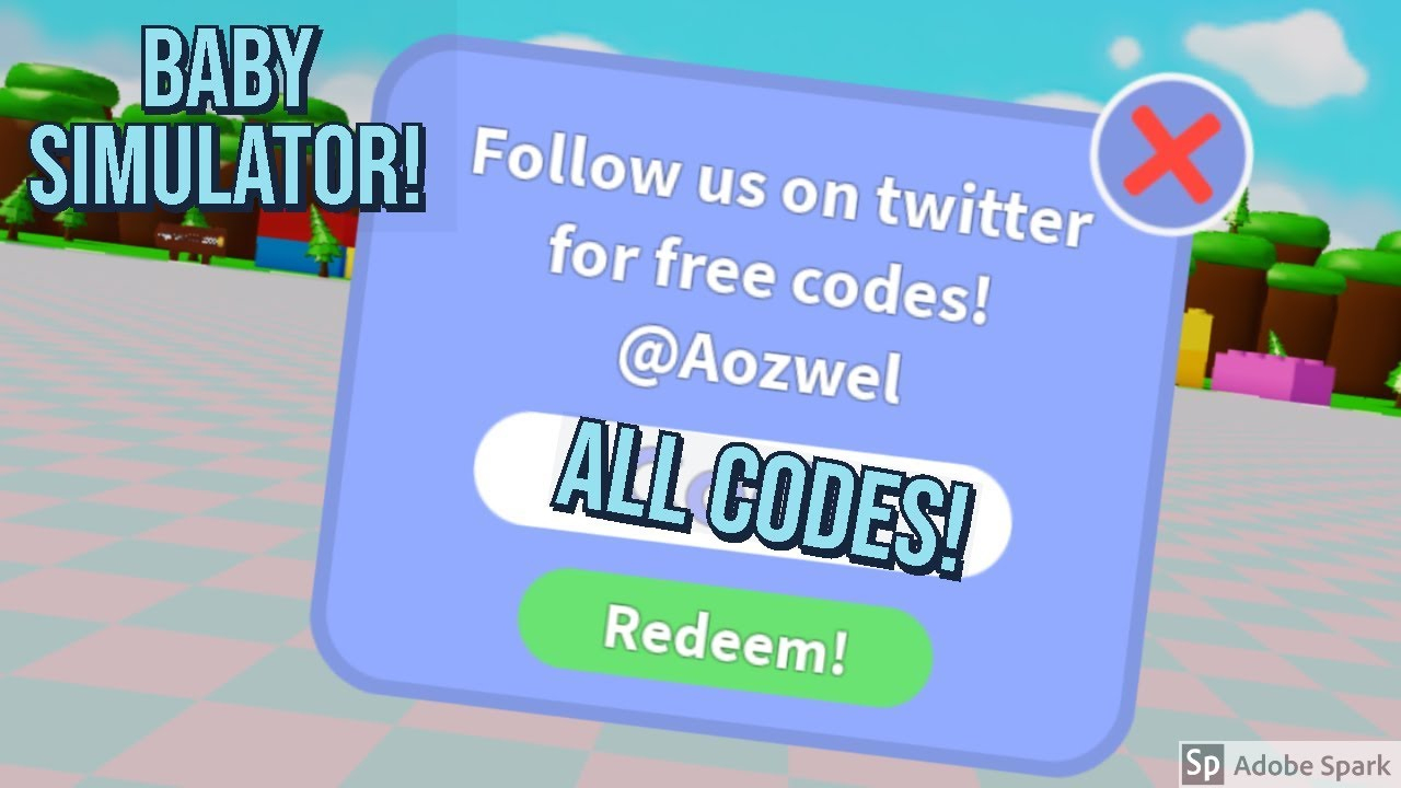 All Codes In Baby Simulator / Roblox