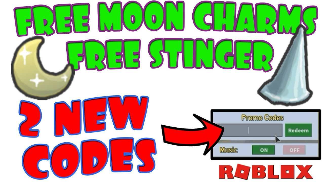 2 New Codes - Free Moon Charms And Stinger - Bee Swarm Simulator - Roblox