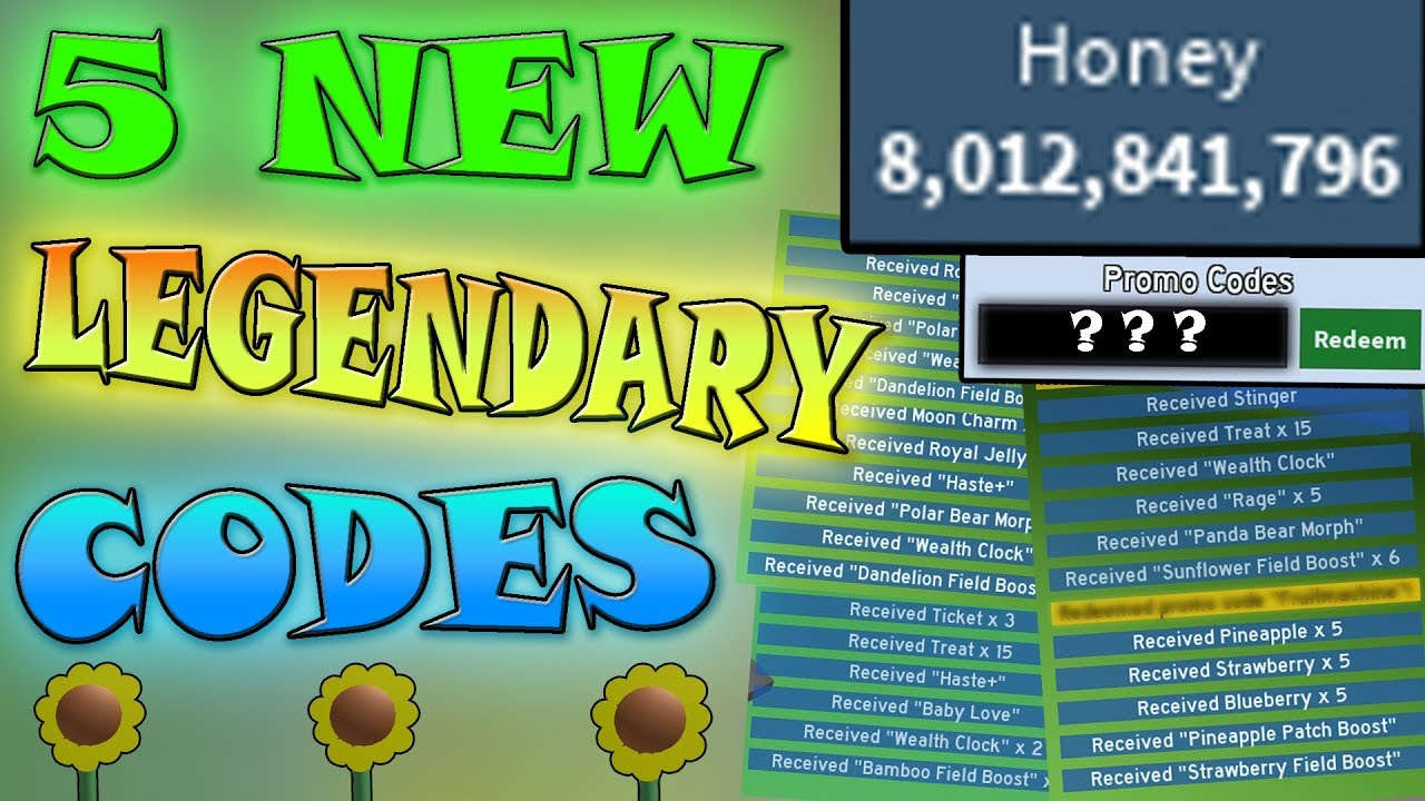 5 *new Codes* Give So Much Honey!!! - Roblox Bee Swarm