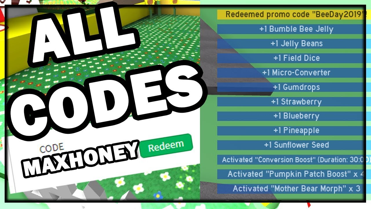 All *codes* For Bee Swarm Simulator!!! (October 2019)