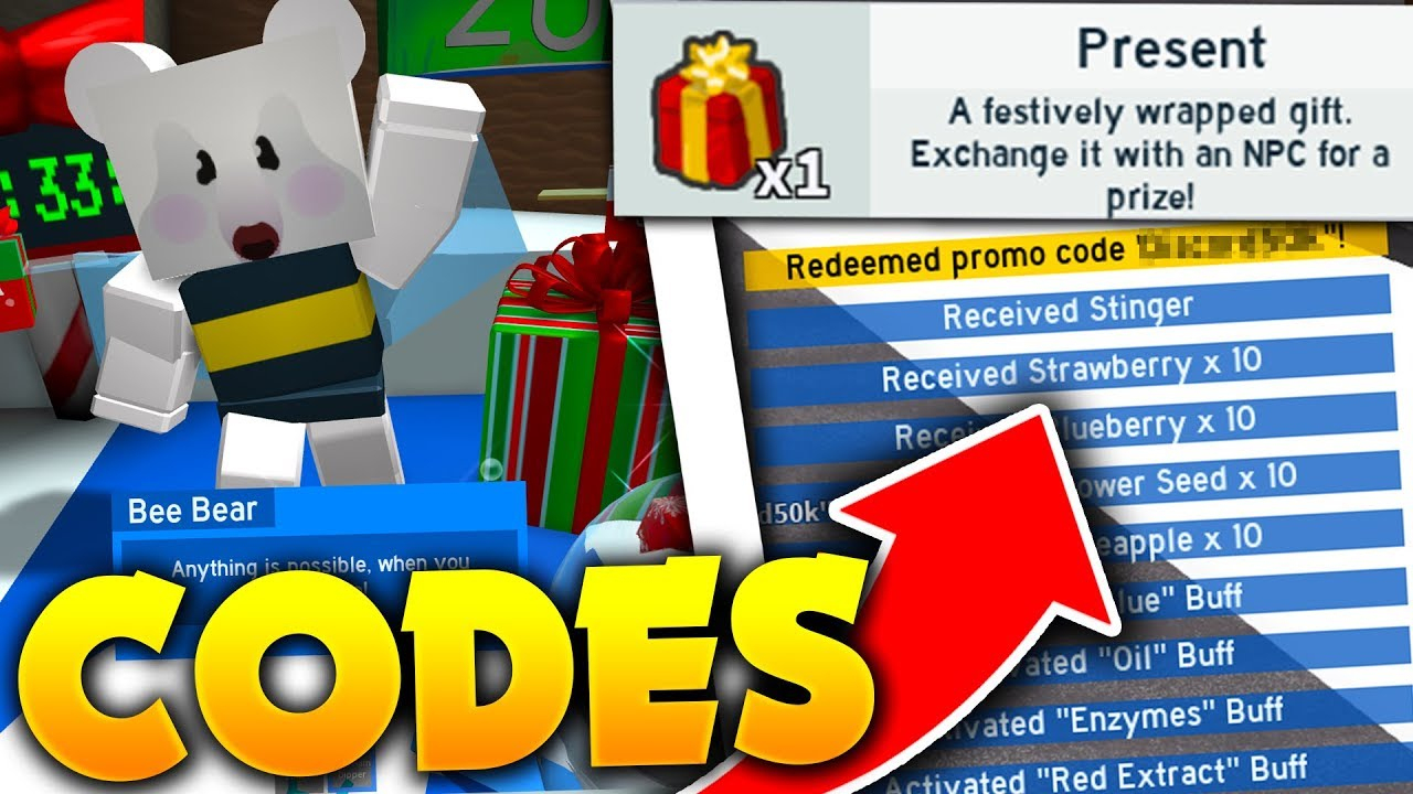 All *new* Christmas Update Codes In Roblox Bee Swarm Simulator! *free Items*