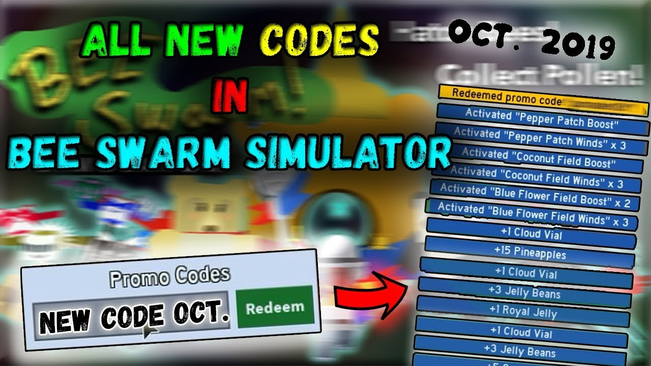 All New Codes On Bee Swarm Simulator ( October 2019 ) / Roblox
