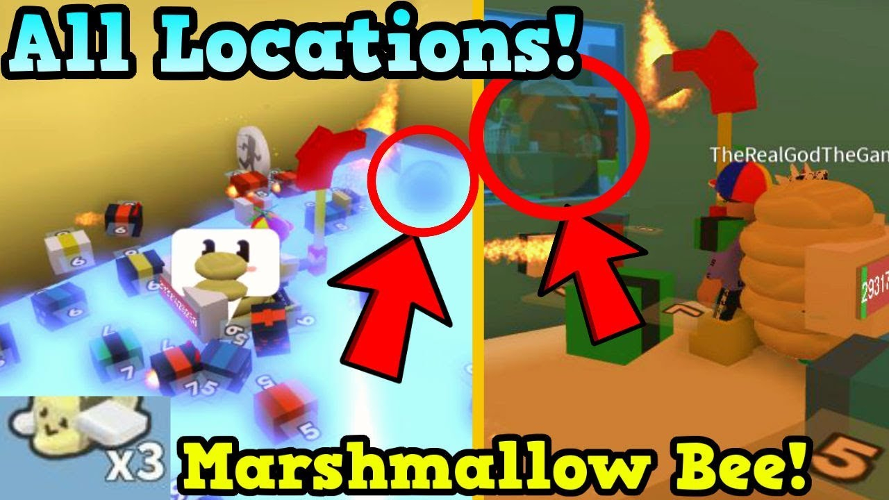 All Plastic Egg Locations! How To Get Free Marshmallow Bee & Codes In Bee  Swarm Simulator (Update)