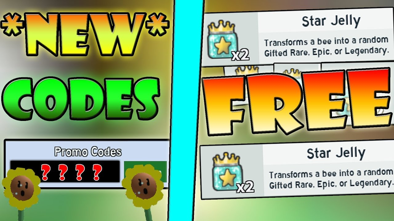 Free* Star Jelly & *new* 2 Op Codes!!! - Roblox Bee Swarm