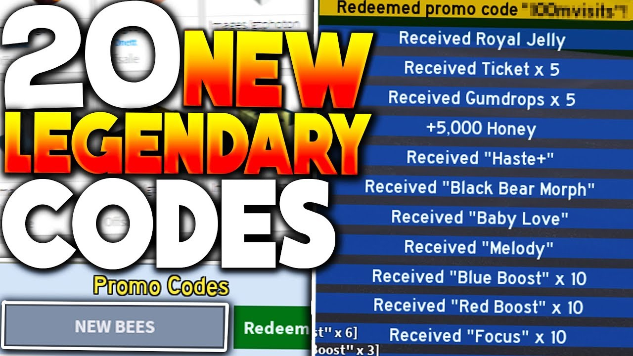 (New) 20 Legendary Roblox Bee Swarm Simulator Codes *new Bees* (Update)