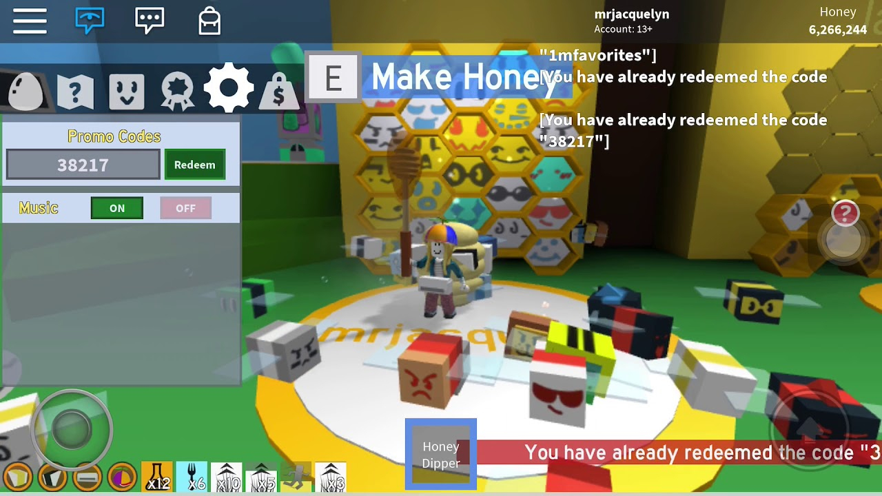 Roblox: Bee Swarm Simulator; Working Codes November  2018