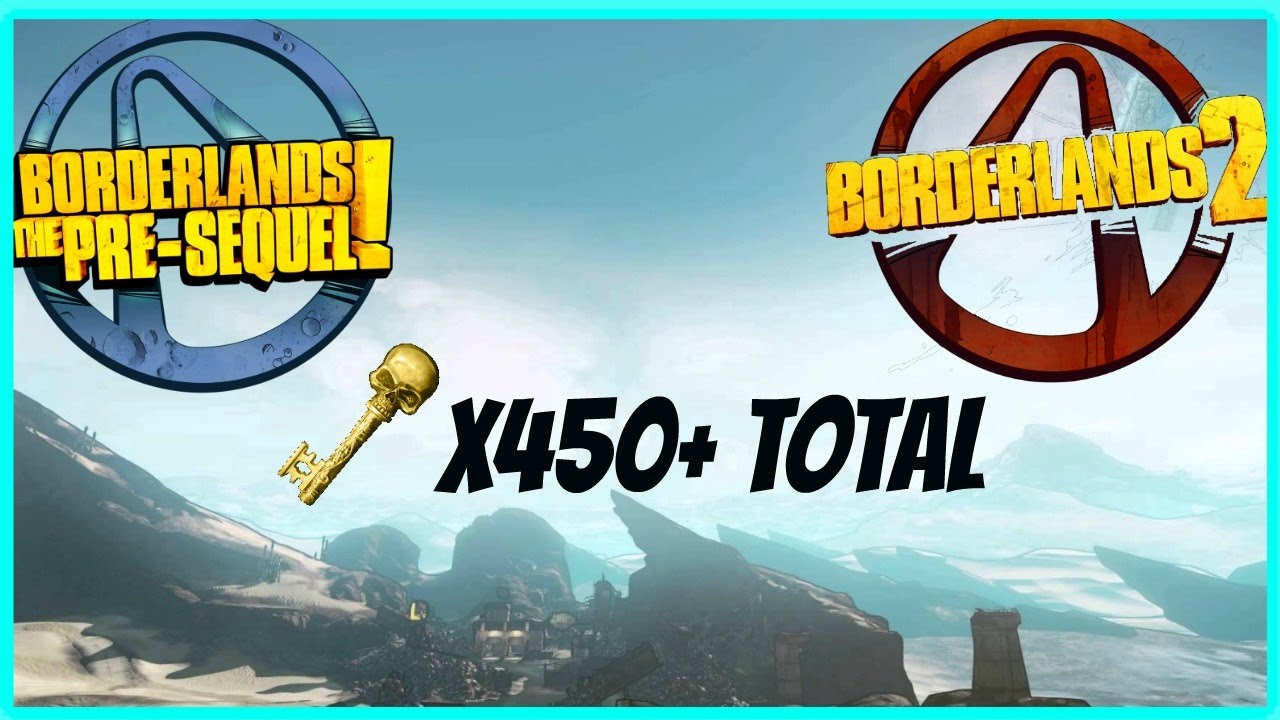 Borderlands 2 And Borderlands The Pre-Sequel - 225+ Golden Keys For Both  Games! (Pc, Ps, And Xbox)