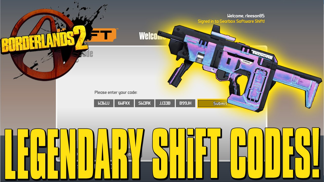 Borderlands 2 Exclusive Legendary Weapon Shift Code!