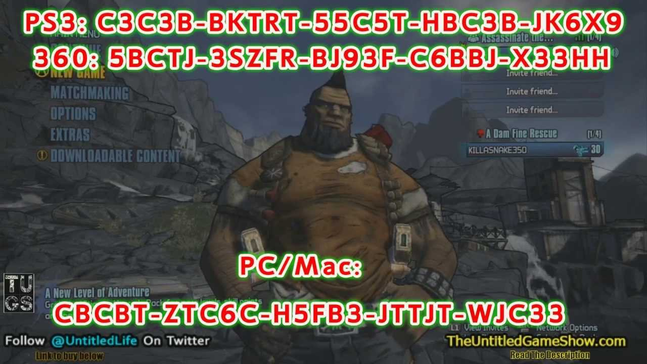 Borderlands 2 Golden Key Shift Codes 4-8-13 Pc-Mac, Ps3, Xbox 360 Hit Like  Button