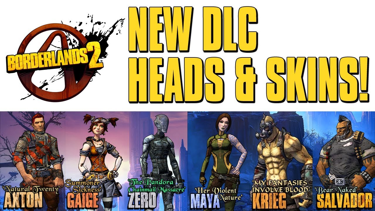 Borderlands 2 Heads & Skins Shift Codes - Tiny Tina's Dlc (Ttaodk)