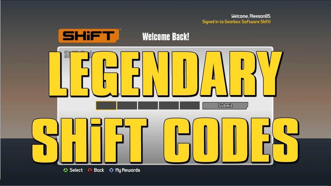 Borderlands 2 - Legendary Weapon Shift Codes!!