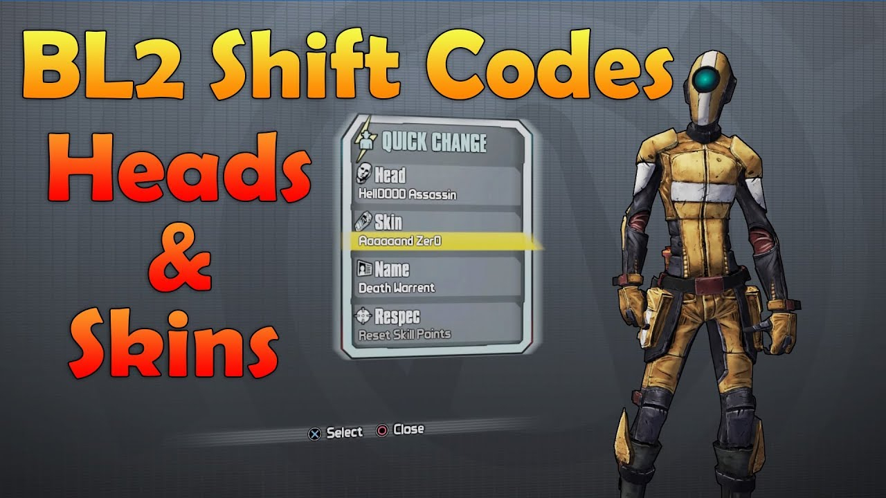 Borderlands 2 Shift Codes Exclusive Heads And Skins All Platforms Never  Expire