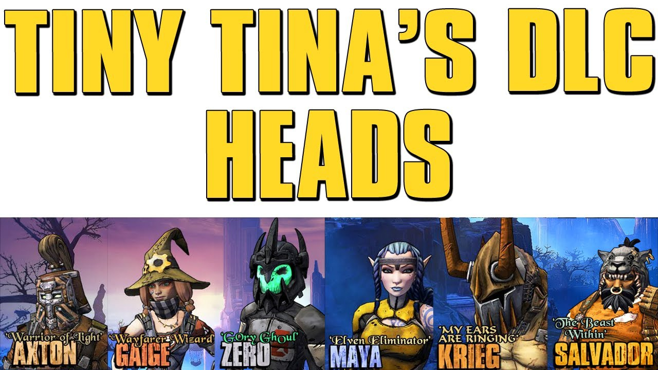 Borderlands 2 - Tiny Tina's Dlc Heads Shift Codes!! 25,000 Subscribers!!