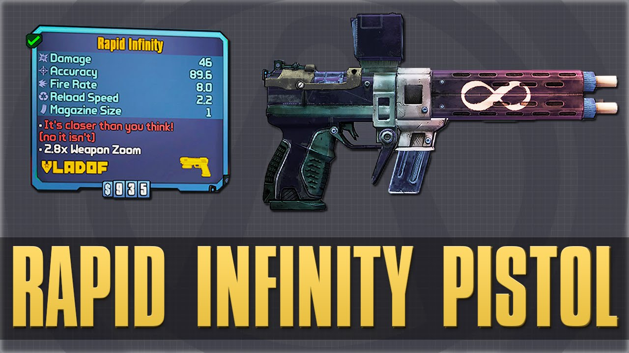 "How To Get The ""rapid Infinity Pistol"" For Free! (Borderlands 2 Gameplay)"