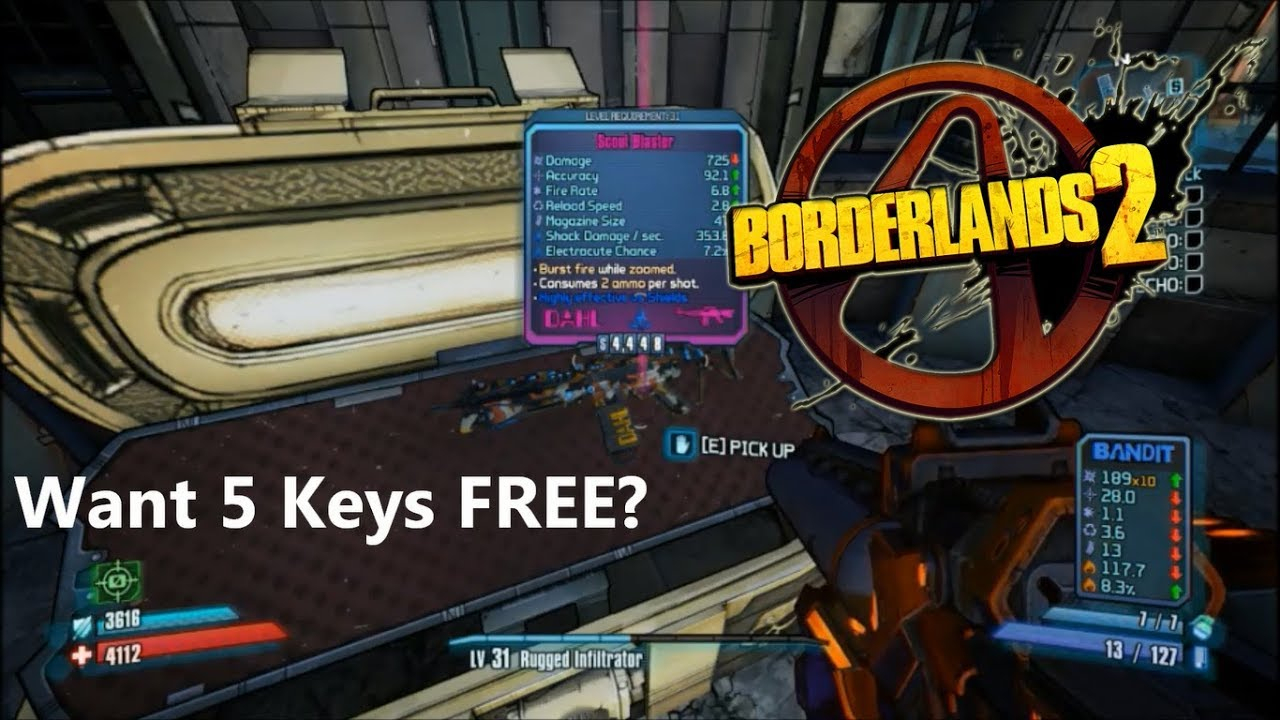 I Open 5 Keys In Borderlands 2 + Free Shift Codes August-November !