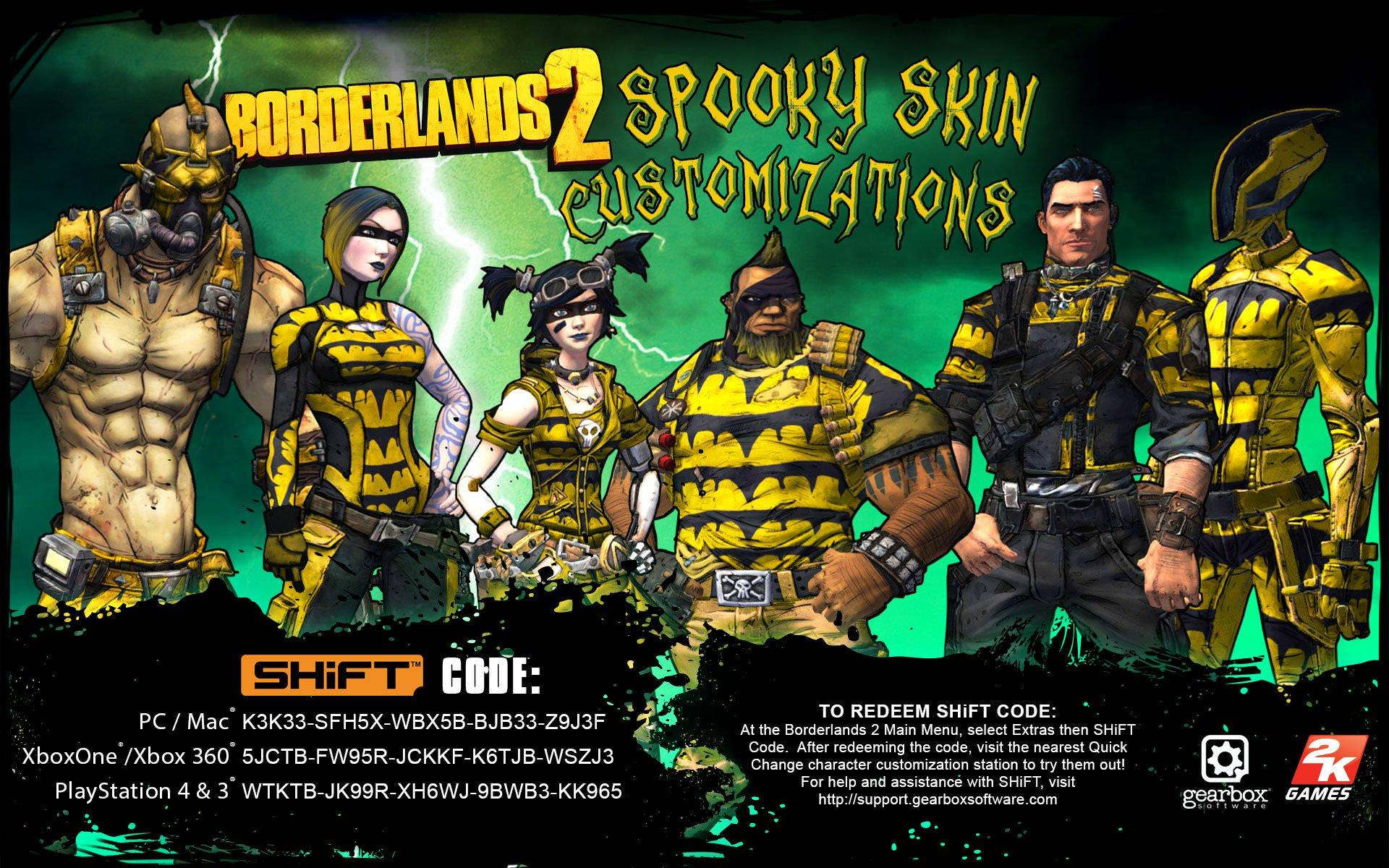 "Official Limited Edition Borderlands 2 ""spooky Skins""! Shift"
