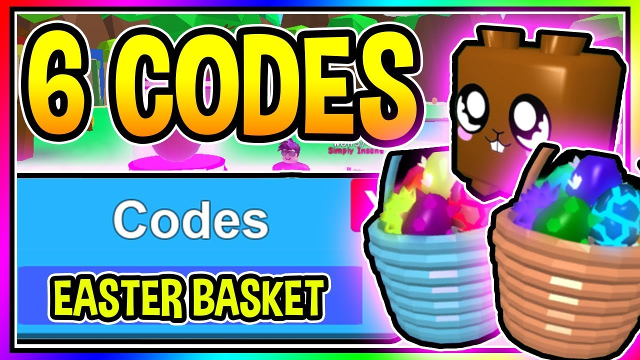 6 New Bubble Gum Simulator Easter Basket Update Codes - Secret Easter  Basket/ Update 23 Roblox