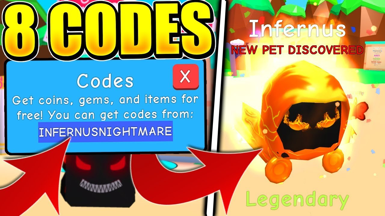 8 Legendary Infernus Pet Codes In Bubble Gum Simulator! (Roblox)