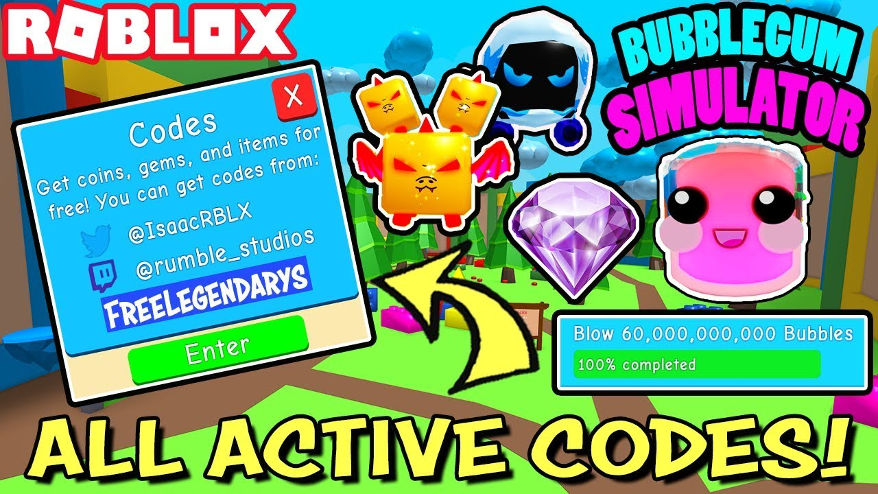 Bubble Gum Simulator Codes – Roblox – November 2019 – Mejoress