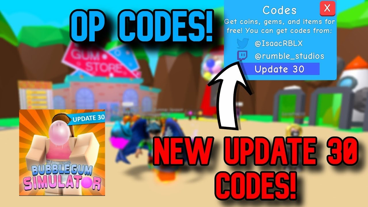 New *op* Codes (🚨update 30🚨) Roblox Bubblegum Simulator