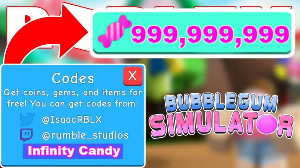 2019* All New Bubble Gum Simulator Codes | Update 9 (Candy Land - Bubble Gum Simulator Codes 2019