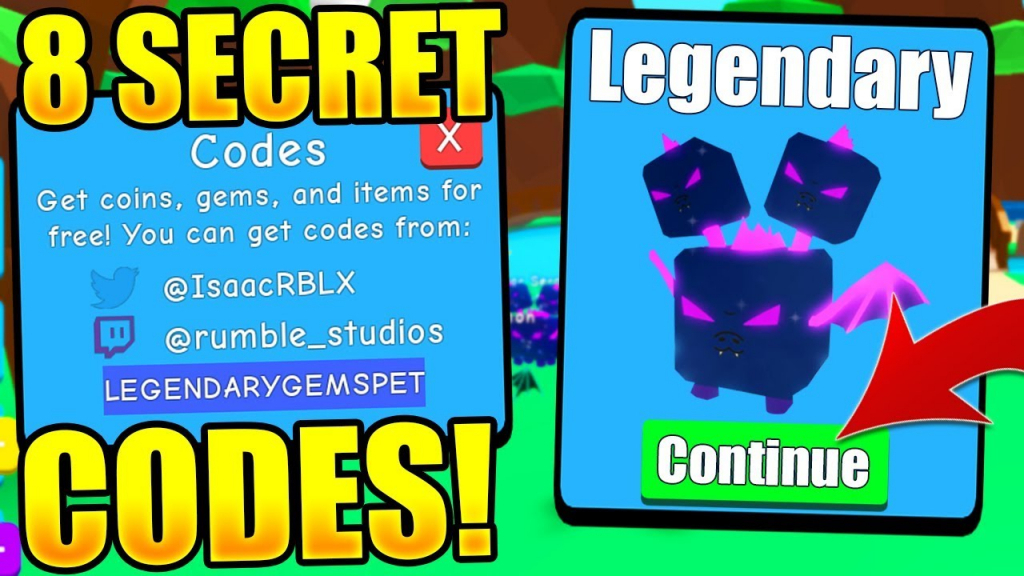 8 Secret Pet Codes In Bubble Gum Simulator! (Roblox) - Youtube - Bubble Gum Simulator Codes Legendary