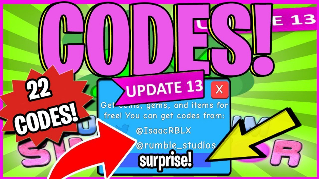 All 22 New Bubble Gum Simulator Codes (Roblox) 🍬 *new* January 2019 - Bubble Gum Simulator Codes Luck