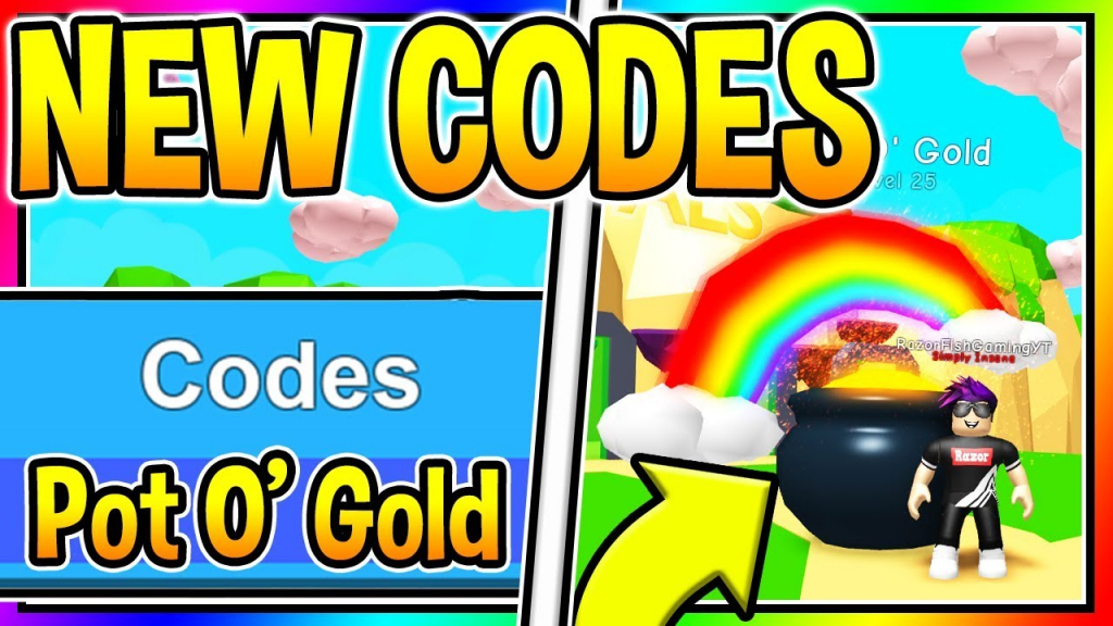 All New Bubble Gum Simulator Codes - Pot O' Gold Pet | New Update 19 - Bubble Gum Simulator Codes Luck