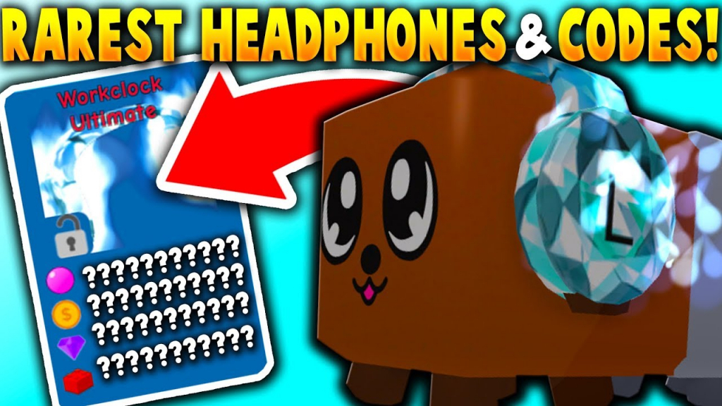 The *new* Rarest Headphones & Boost Codes!! (Workclock Ultimate - Bubble Gum Simulator Codes For Boosts