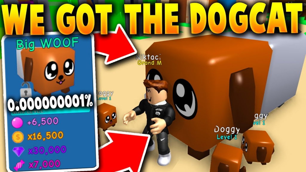 We Got Given The *secret* Dogcat Pet!! (Only One In The World - Bubble Gum Simulator Dog Cat Code
