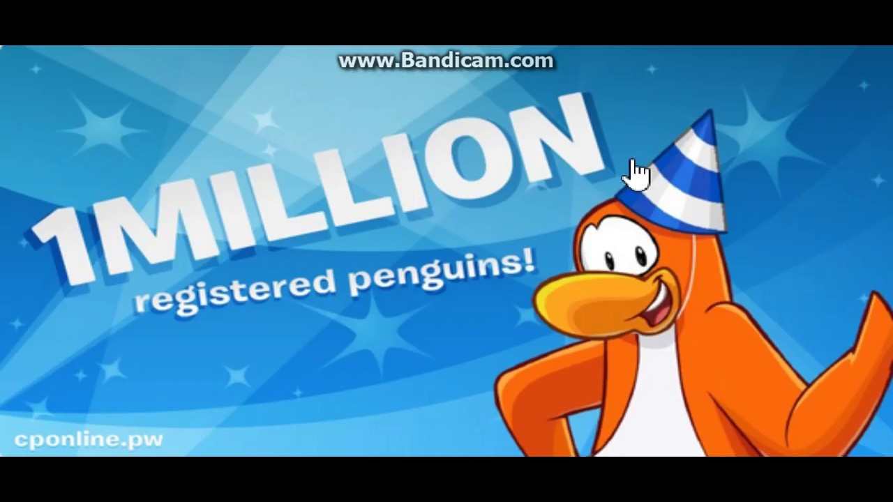 Club Penguin Online: 1 Million Users Party!!!!!!!!!! + Code
