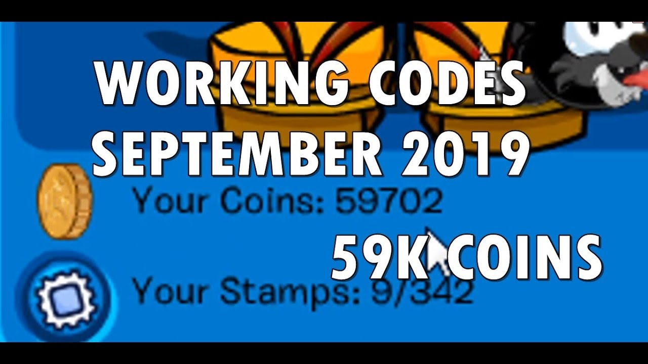 Club Penguin Online 59K Coins All Working Codes (November  2019) Cpo
