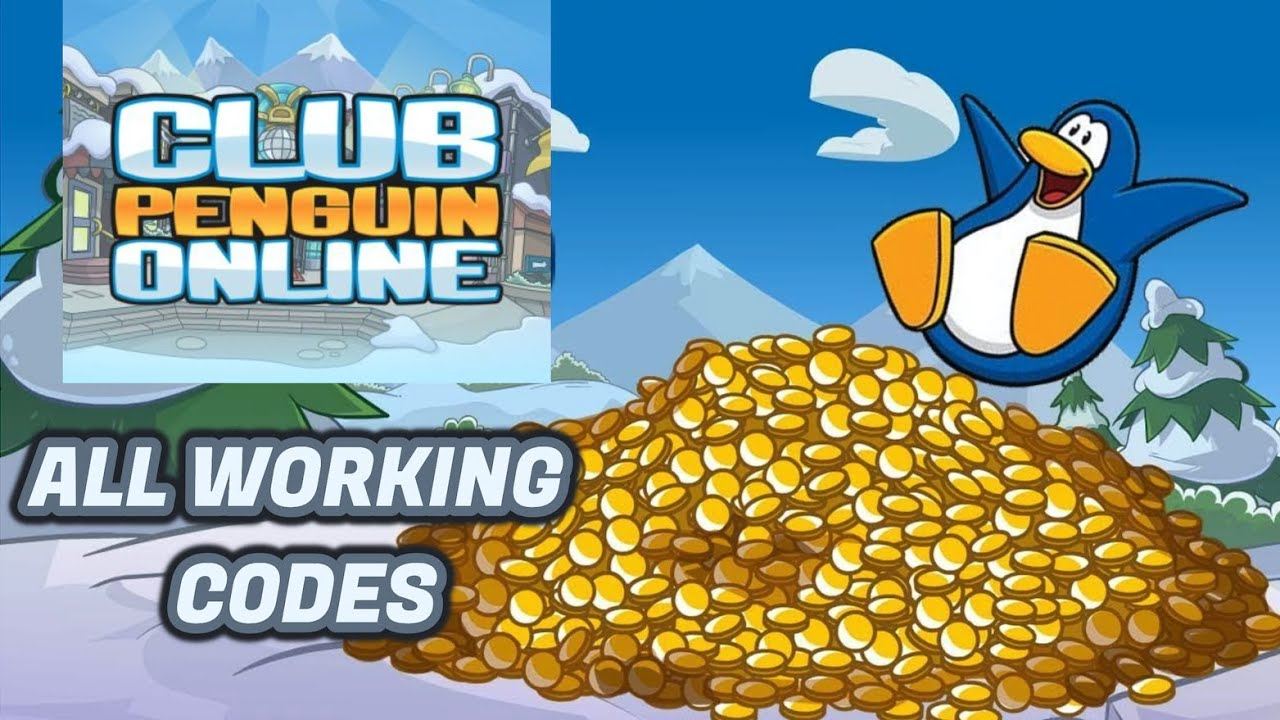 Club Penguin Online - All Working Codes (March 2019)