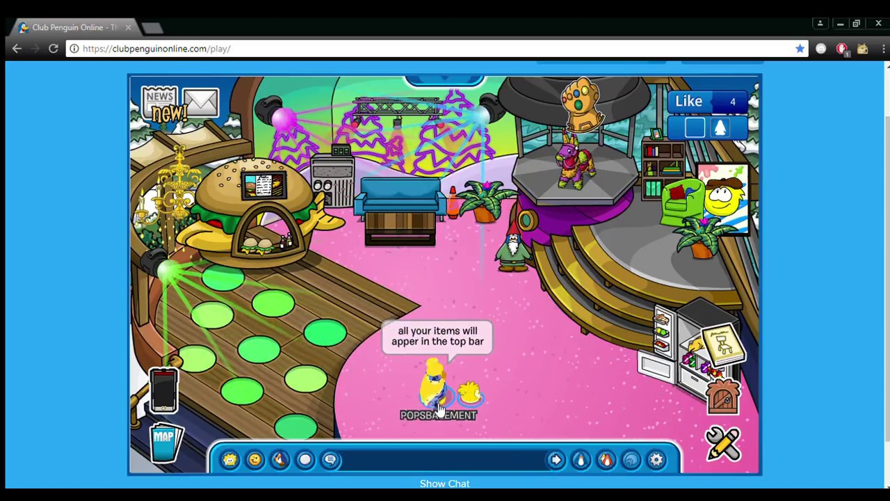 How To Edit Your Igloo In Club Penguin Online