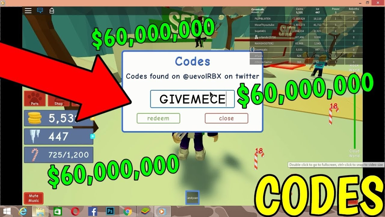 All Codes In Grow A Candy Cane Simulator Roblox 2019
