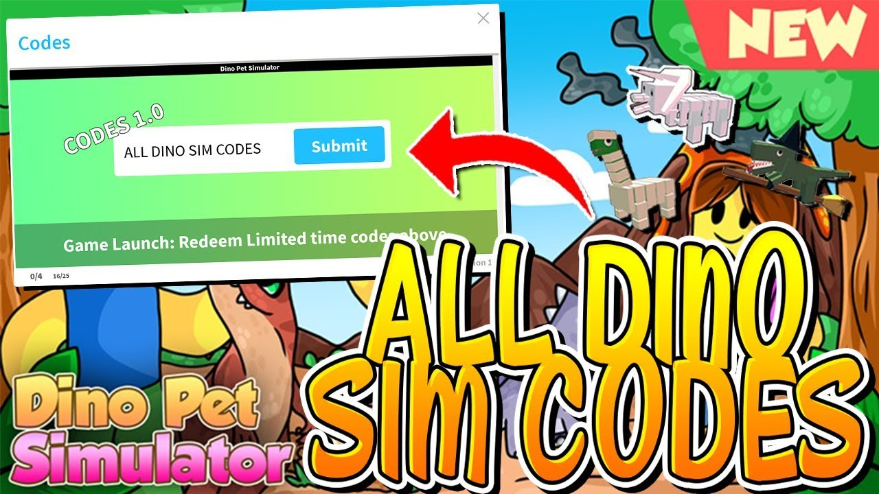 All Active Dino Pet Simulator Codes!! November  2018 (Roblox)