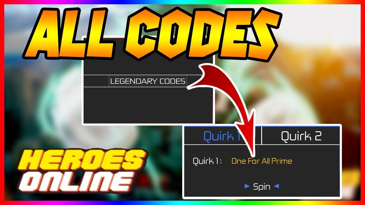 All Codes* New Codes Heroes Online I Get Legendary Quirk I