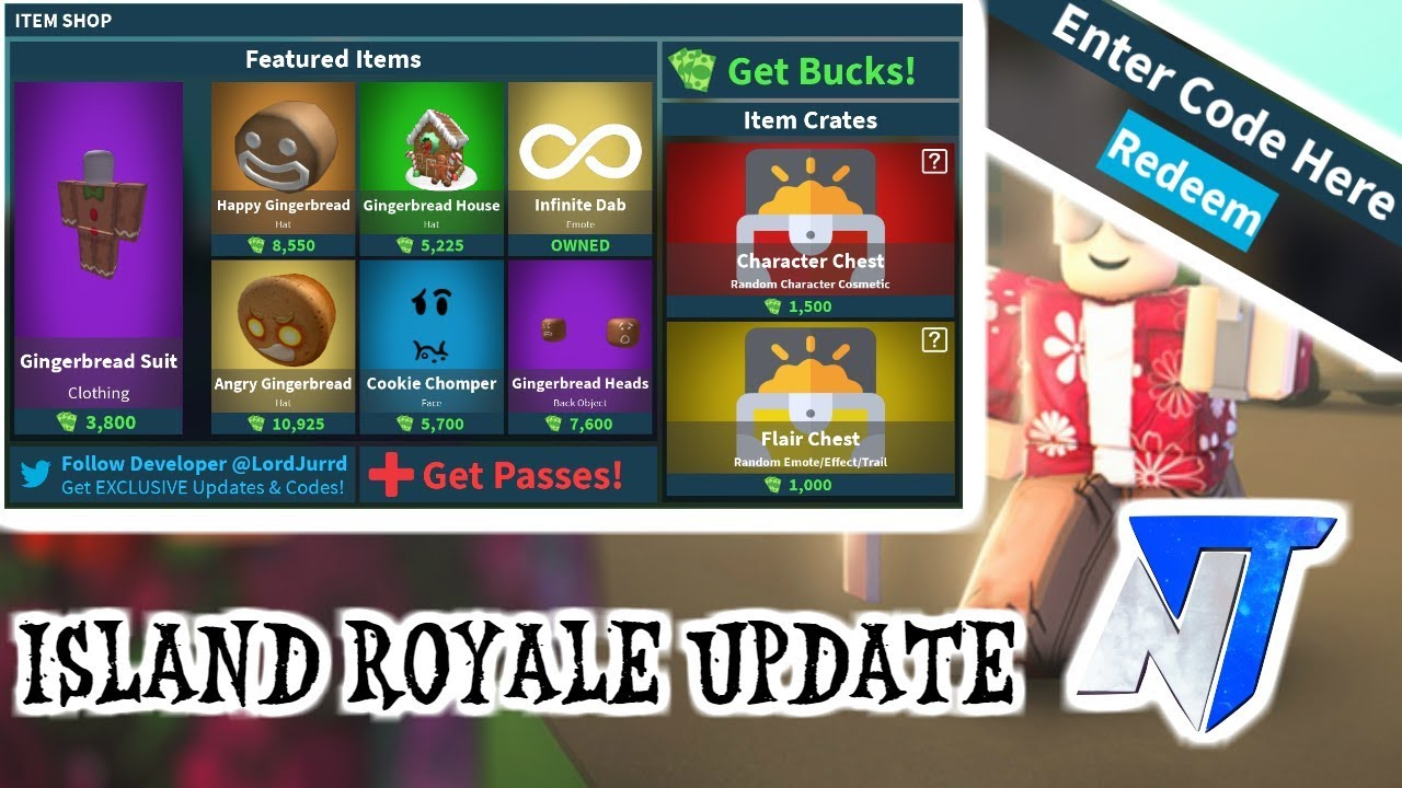 Island Royale🌴new Update And 2 Special Codes🔥roblox
