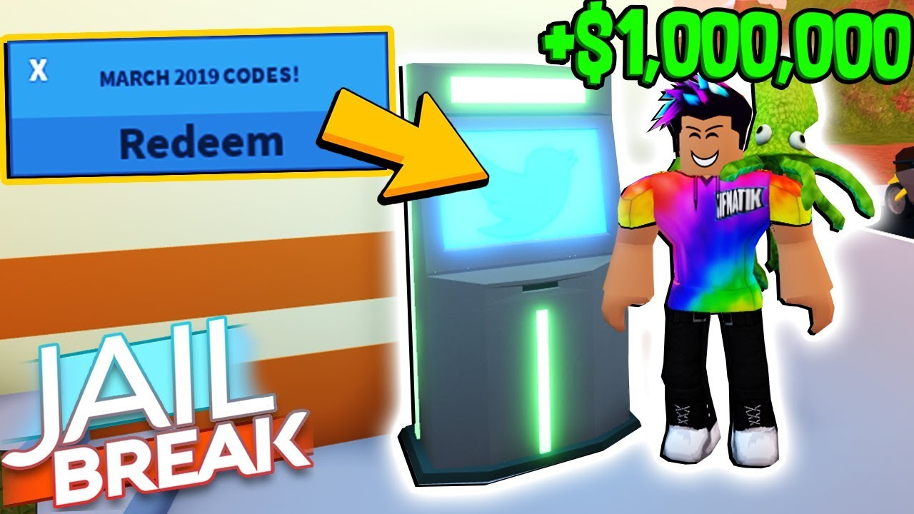 All *working* Atm Codes For Roblox Jailbreak! (March 2019)