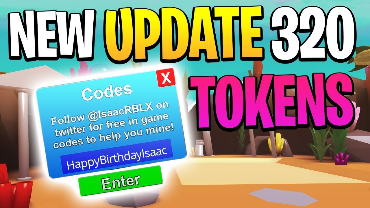 10 New Codes In The New Pet Update In Mining Simulator (320 Tokens)