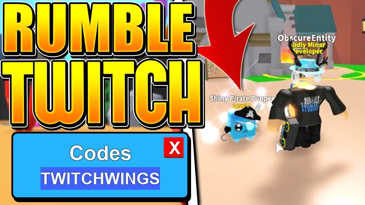 13 Rumble Studios Twitch Codes In Roblox Mining Simulator!