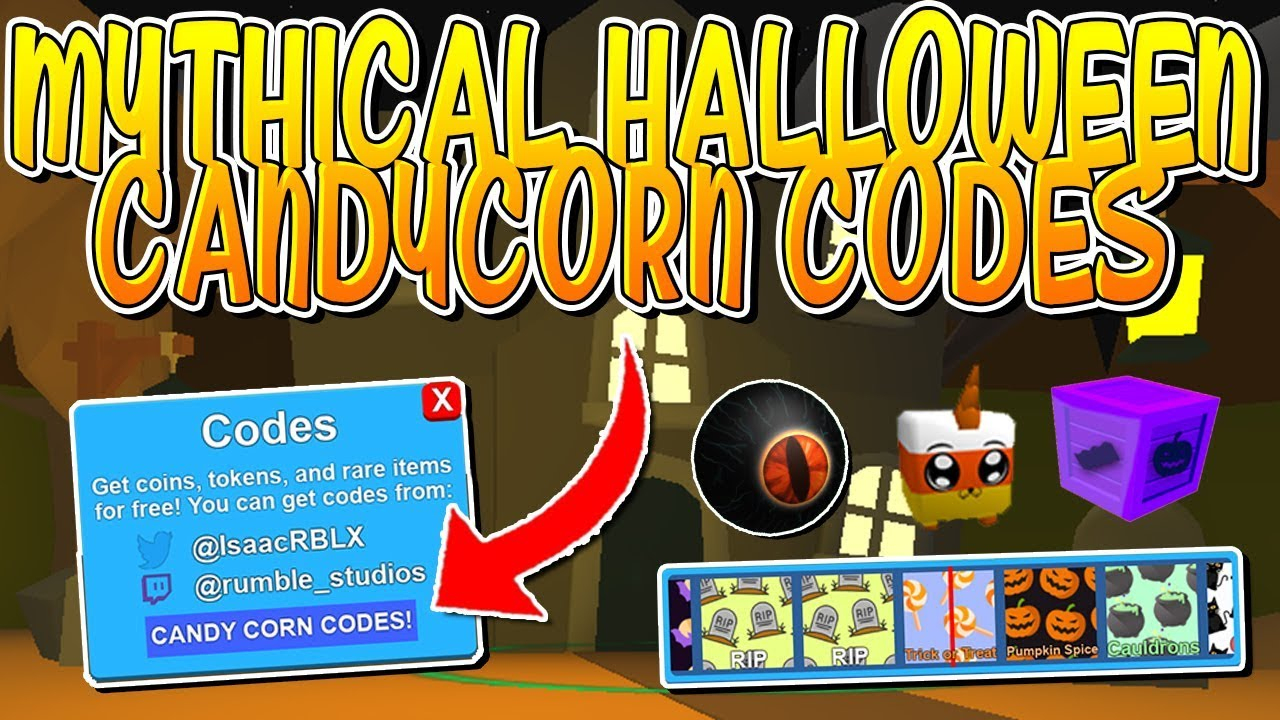 All Candy Corn Mythical Codes In Roblox Mining Simulator!!