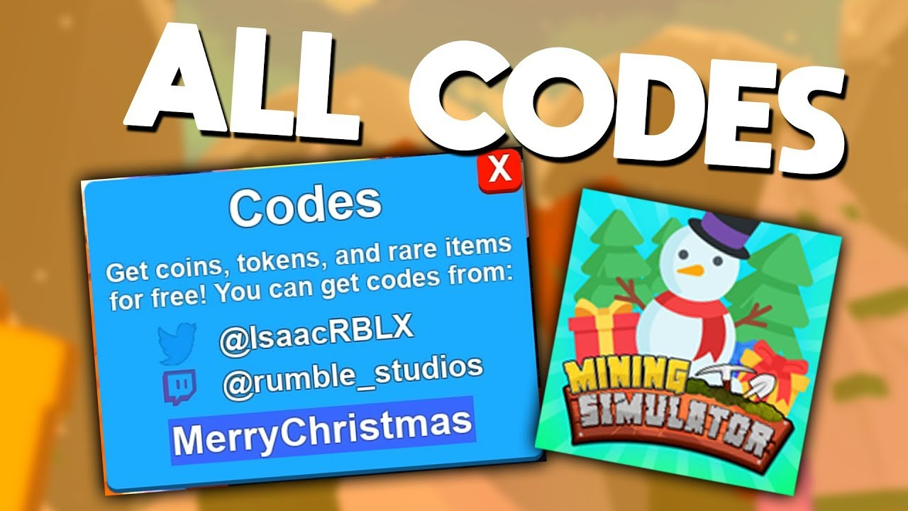 All Codes! (Christmas Update) | Roblox Mining Simulator