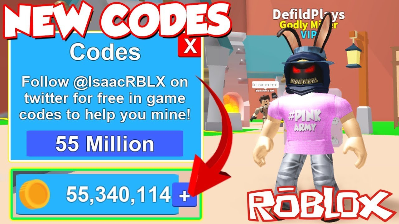 (Code) All Working Secret Twitter Money Codes In Roblox Mining Simulator!  *free Items And Money!*