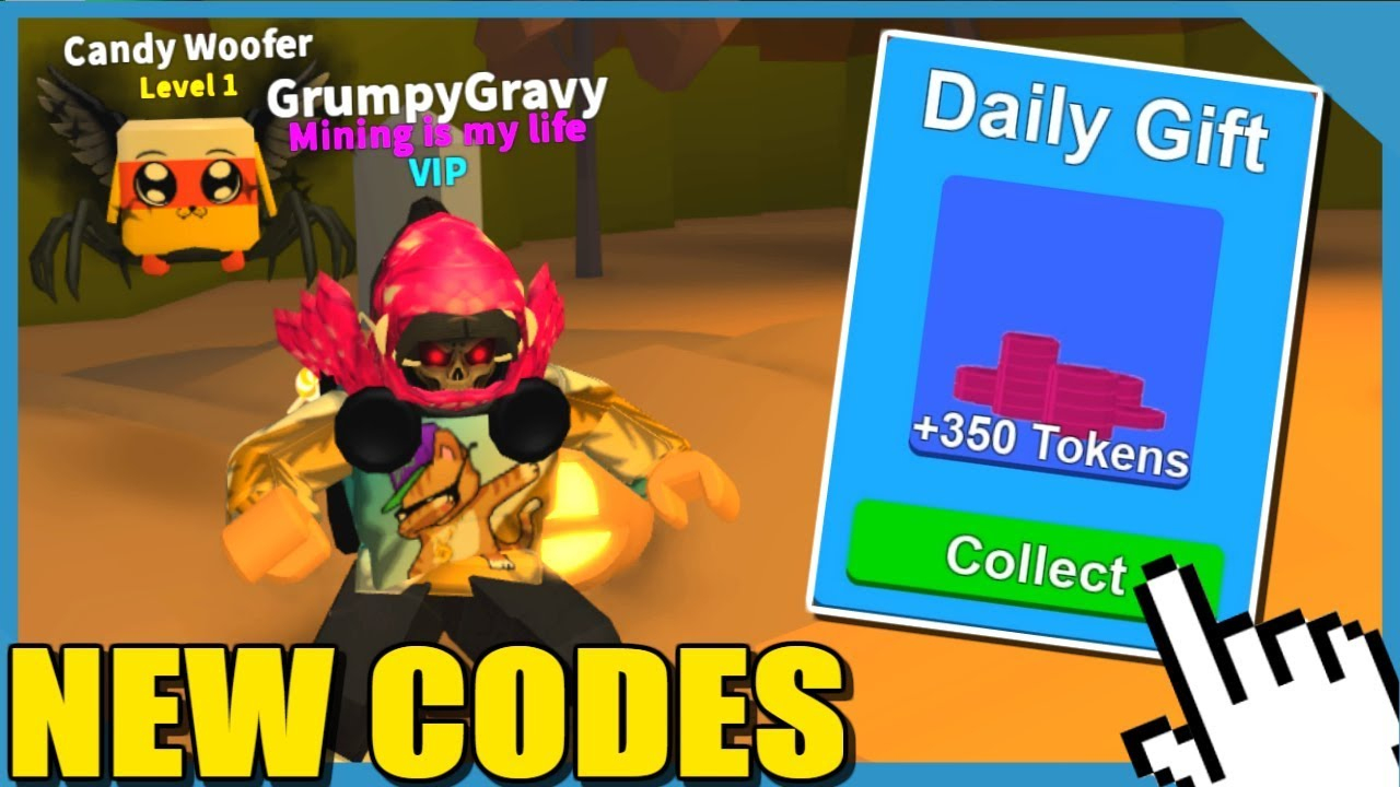 Free Daily Gifts + All Halloween Codes! - Roblox Mining Simulator