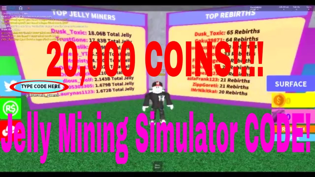 Jelly Mining Simulator - Codes (20K Coins!!!!)