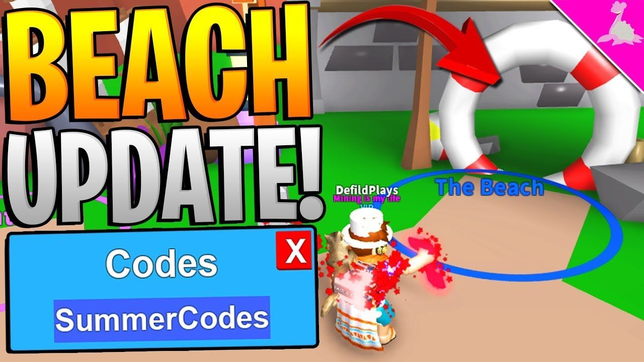 Mythical Beach Codes Update In Roblox Mining Simulator