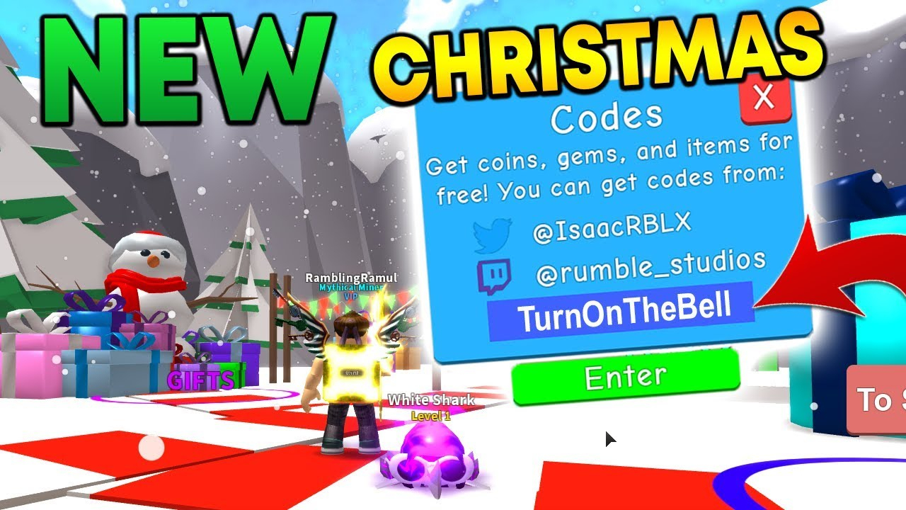 *new* Christmas Update In Mining Simulator And 10 Codes